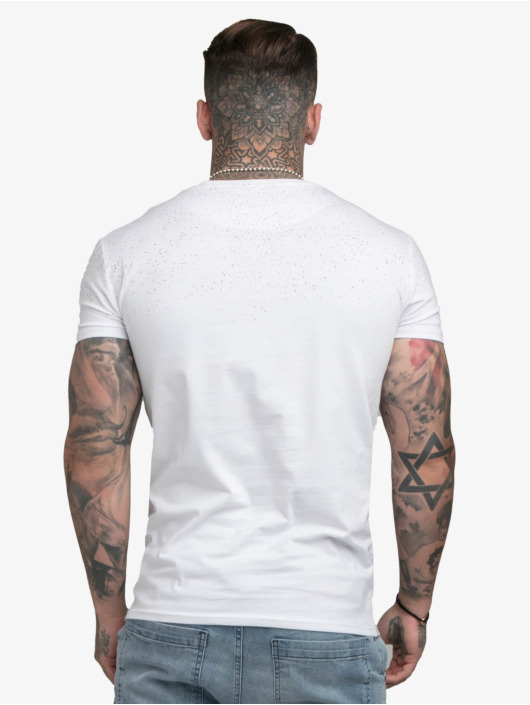 Sik Silk T-shirts Speckle Gym hvid