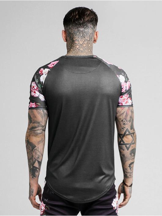 Sik Silk T-shirts Oil Paint Raglan Taped sort