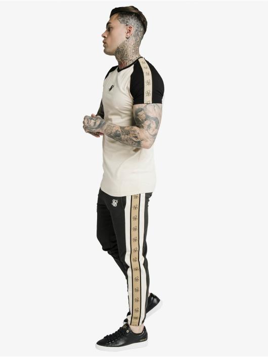 Sik Silk T-Shirty Raglan Premium Tape Gym bezowy