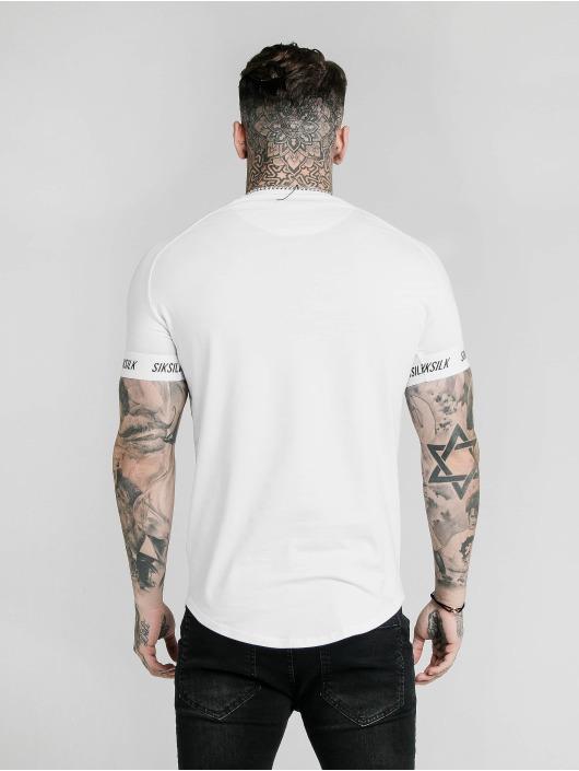 Sik Silk T-Shirty Raglan Tech bialy
