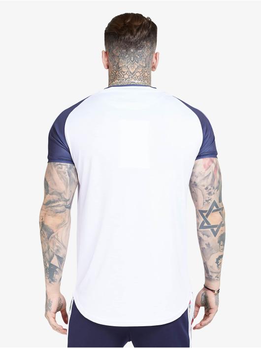 Sik Silk T-Shirty S/S Curved Hem Raglan bialy
