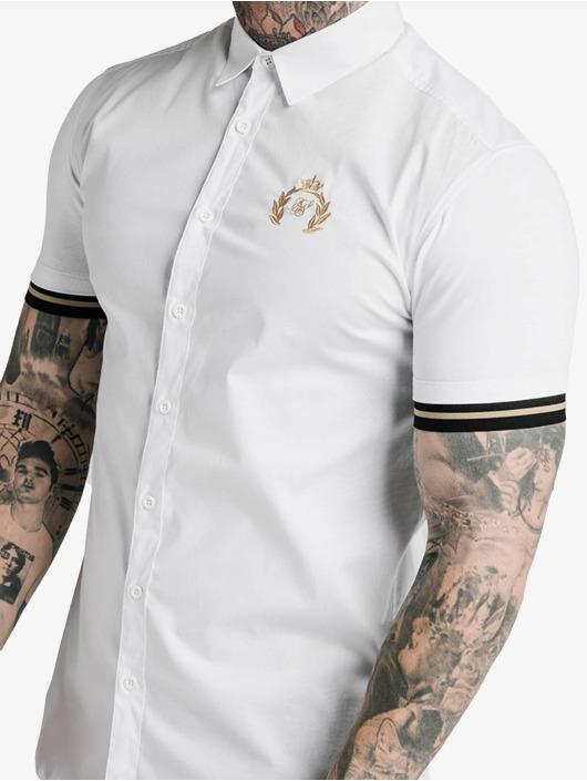 Sik Silk T-Shirty Prestige Inset Cuff bialy