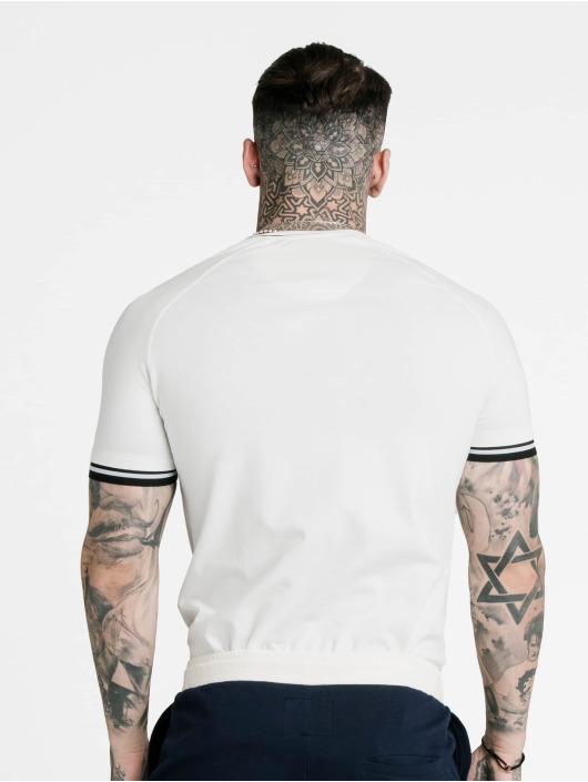 Sik Silk T-Shirty Siksilk Signature Piped Tech bialy