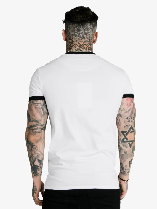 Sik Silk T-Shirty Hem Gym bialy