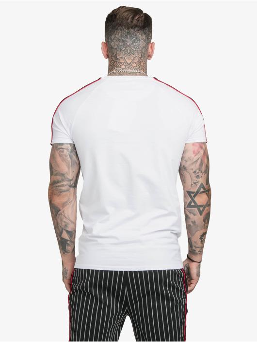 Sik Silk T-Shirty Imperial Raglan Gym bialy