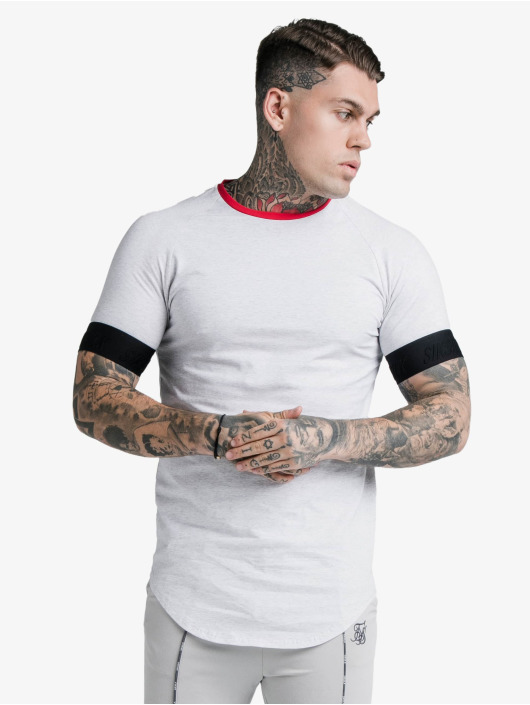 Sik Silk T-Shirty S/S Deluxe Ringer Tech bialy