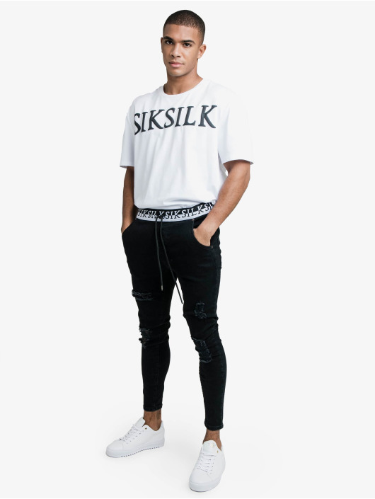 Sik Silk T-Shirty Drop Shoulder Relaxed Fit bialy