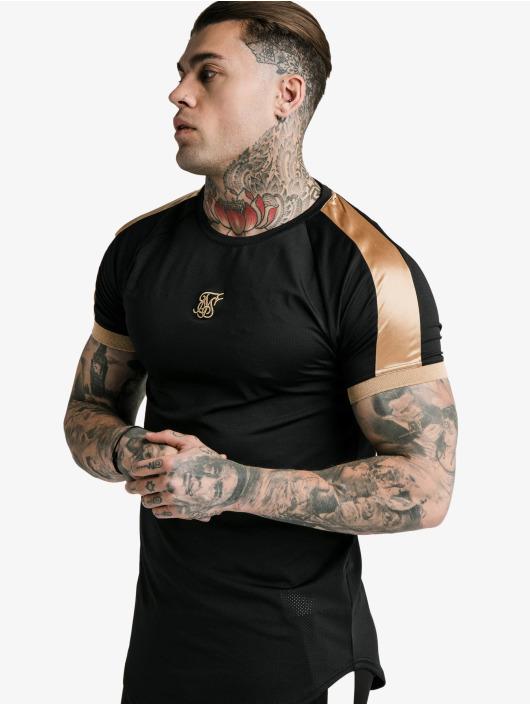 Sik Silk T-Shirty Inset Cuff Tech czarny