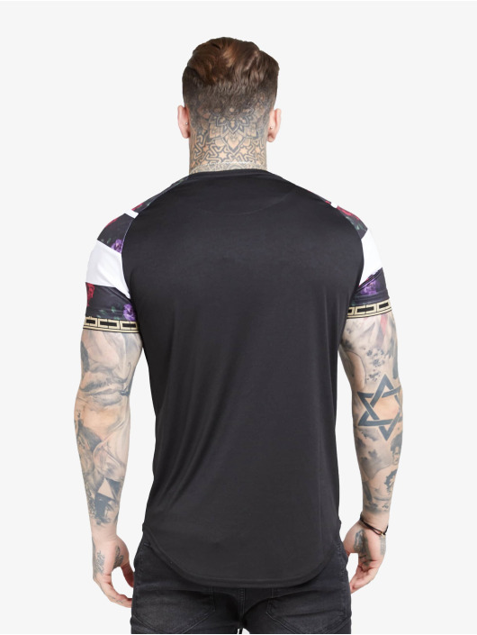 Sik Silk T-Shirty Raglan Sprint Tape czarny