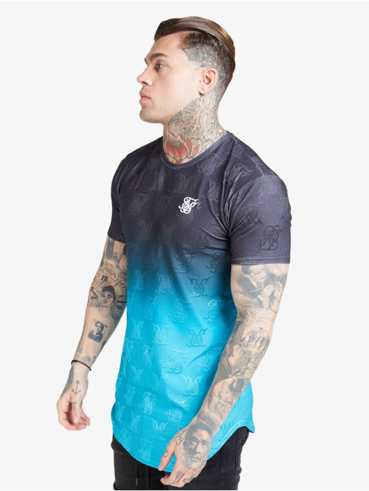 Sik Silk T-Shirty Monogram Fade Gym czarny