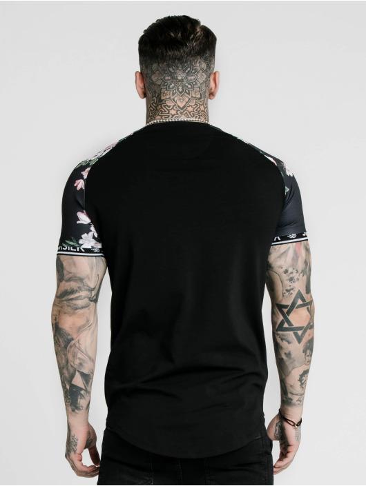 Sik Silk T-Shirty S/S Prestige Floral Inset Tech czarny