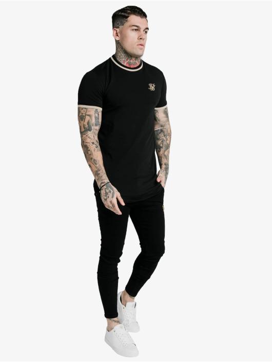 Sik Silk T-Shirty Yarn Rib czarny