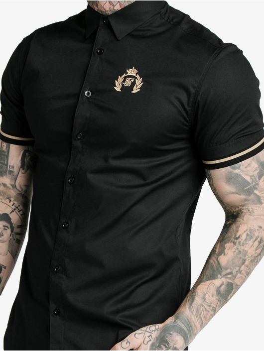 Sik Silk T-Shirty S/S Prestige Inset Cuff czarny