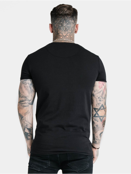 Sik Silk T-Shirty Hem Gym czarny