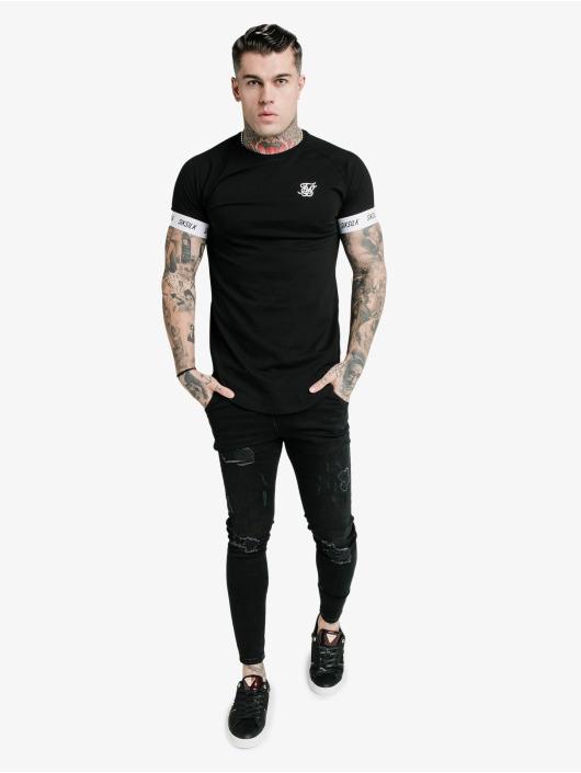 Sik Silk T-Shirty Raglan Tech czarny