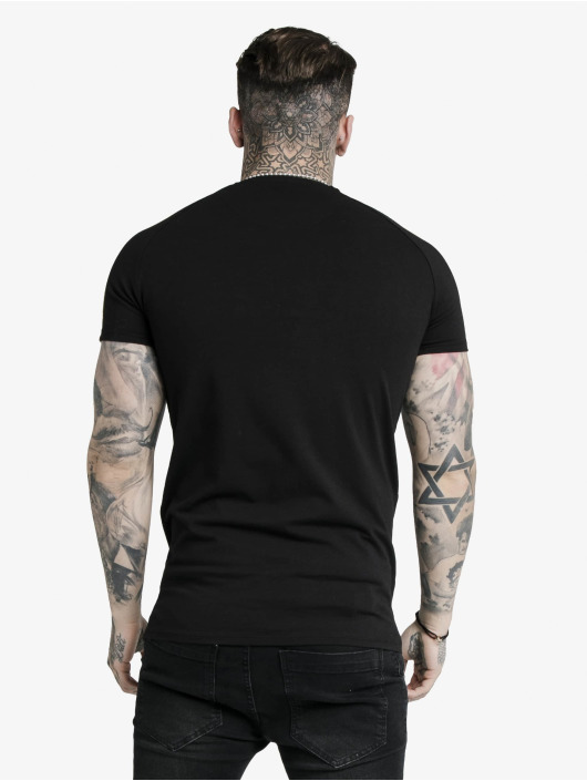 Sik Silk T-Shirty S/S Astro Raglan Gym czarny