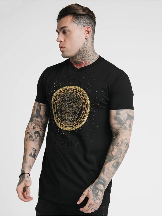 Sik Silk T-Shirty Rhinestone Lion czarny