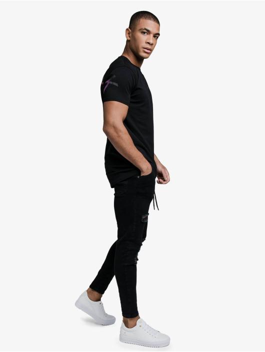 Sik Silk T-Shirty Back Fade Back Print czarny