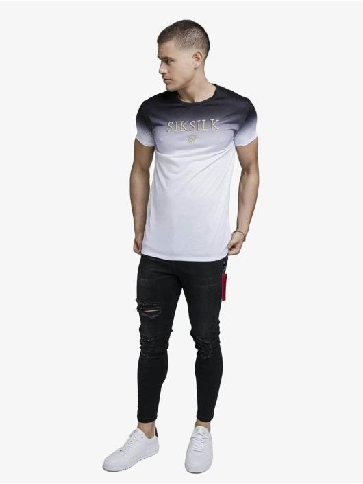 Sik Silk T-Shirty High Fade Embroidery Gym czarny