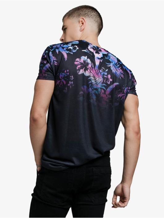 Sik Silk T-Shirty Hawaii High Fade czarny