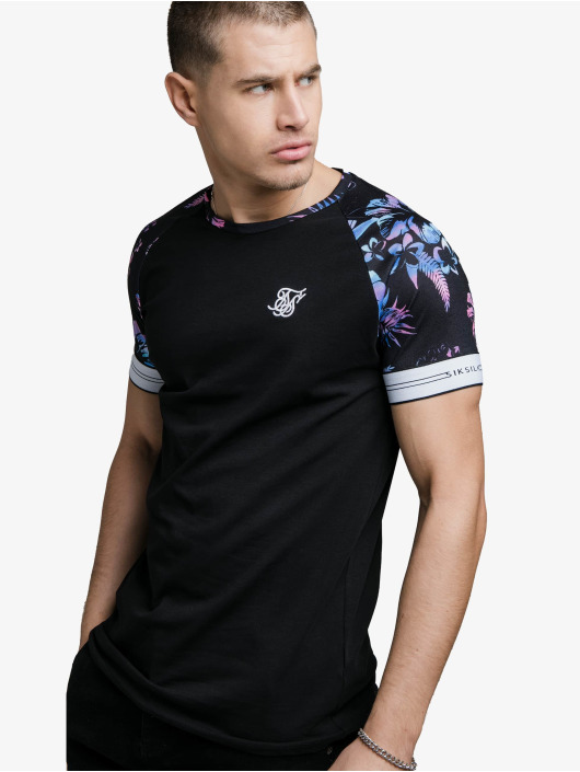 Sik Silk T-Shirty Hawaii Status Tech czarny