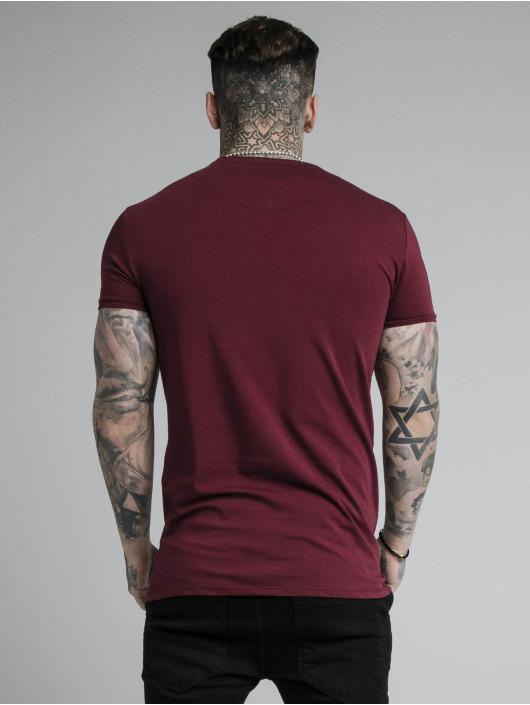 Sik Silk T-Shirty Hem Gym czerwony