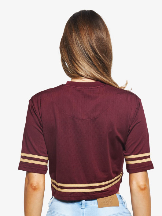 Sik Silk T-Shirty Mesh Crop czerwony