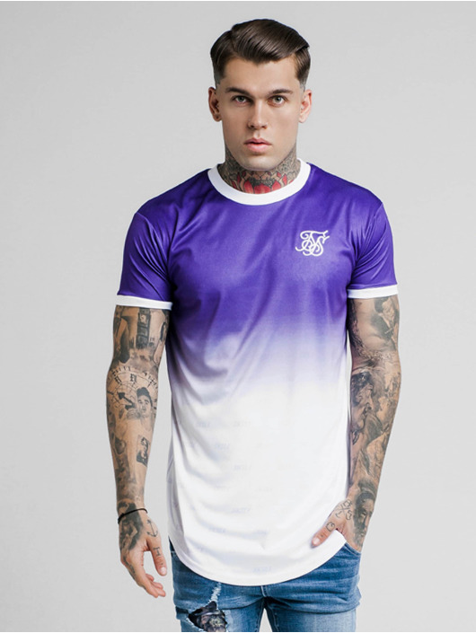 Sik Silk T-Shirty Ringer Fade Gym fioletowy