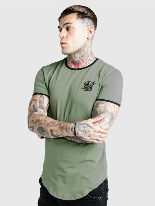 Sik Silk T-Shirty Ringer Gym khaki