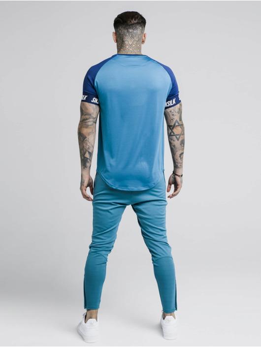 Sik Silk T-Shirty Raglan Tech niebieski