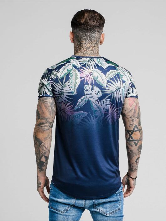 Sik Silk T-Shirty Siksilk S/S Jeremy Vine Taped Gym niebieski