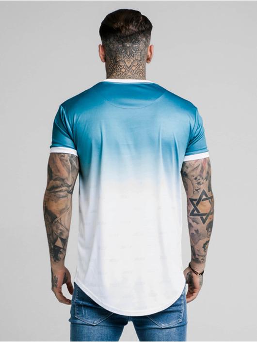Sik Silk T-Shirty Ringer Fade Gym niebieski