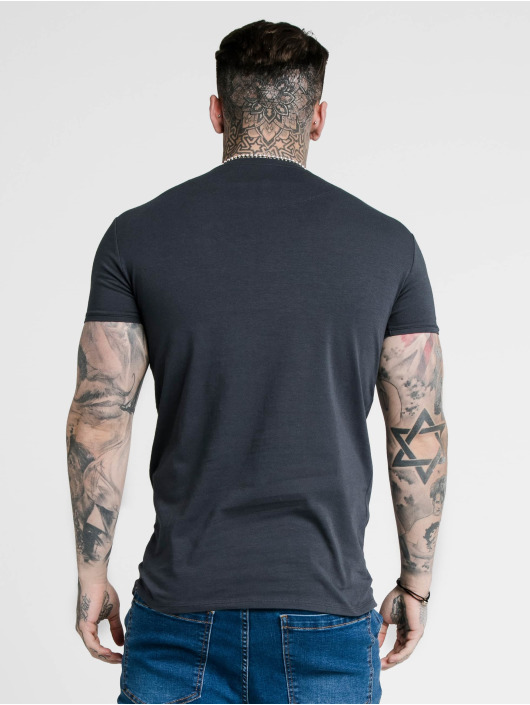 Sik Silk T-Shirty Hem Gym niebieski