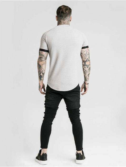 Sik Silk T-Shirty Raglan Tech szary