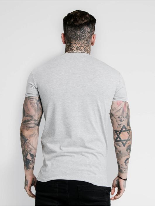 Sik Silk T-Shirty Hem Gym szary