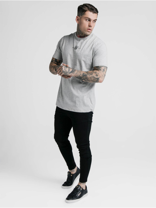 Sik Silk T-Shirty Basic Core szary