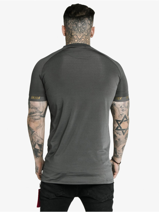 Sik Silk T-Shirty Marbel Stretch Sports szary
