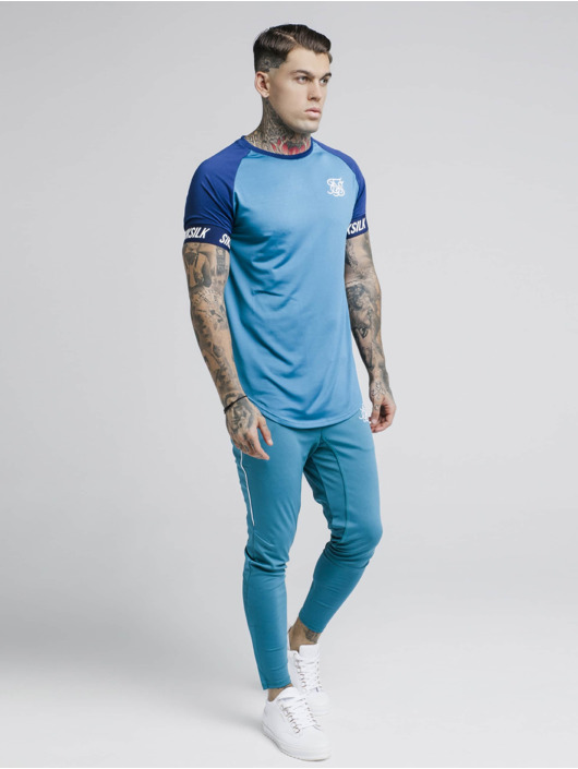 Sik Silk T-skjorter Raglan Tech blå