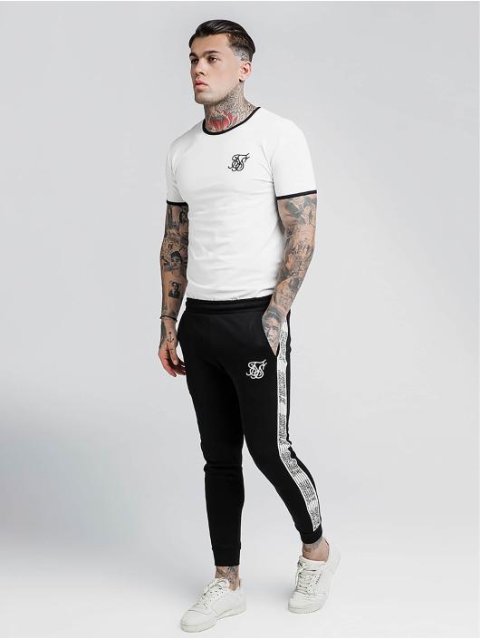 Sik Silk T-skjorter Bound Ringer Gym hvit