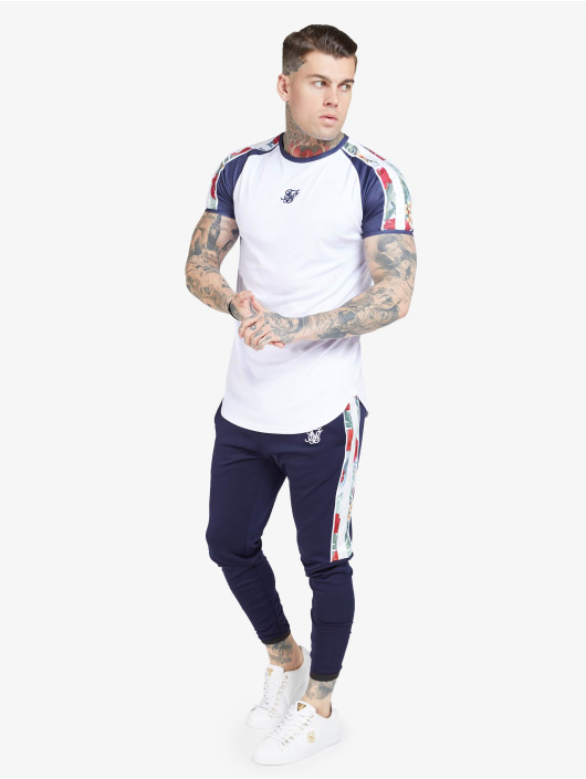 Sik Silk T-skjorter S/S Curved Hem Raglan hvit
