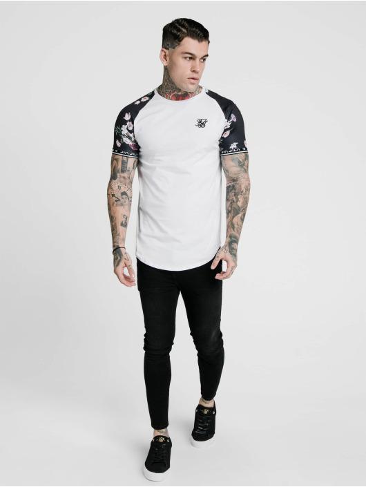 Sik Silk T-skjorter S/S Prestige Floral Inset Tech hvit