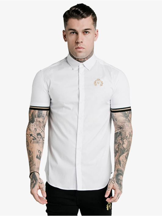 Sik Silk T-skjorter Prestige Inset Cuff hvit