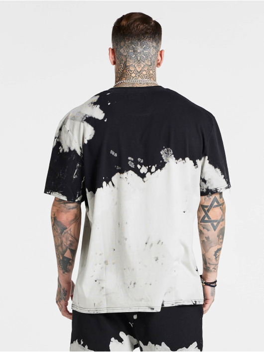 Sik Silk T-skjorter X Steve Aoki Bleach Wash Oversized hvit