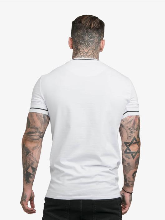 Sik Silk T-skjorter Imperial Retro Rib Gym hvit