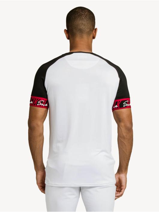 Sik Silk T-skjorter Scope Tape Tech hvit