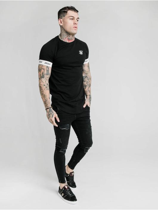 Sik Silk T-skjorter Raglan Tech svart