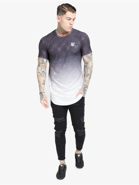 Sik Silk T-skjorter Monogram Fade Gym svart