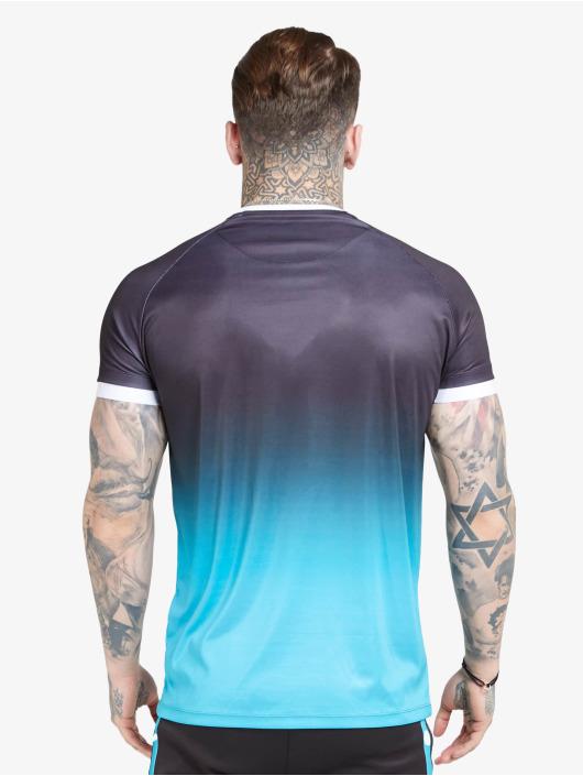 Sik Silk T-skjorter Raglan Straight Hem Fade svart