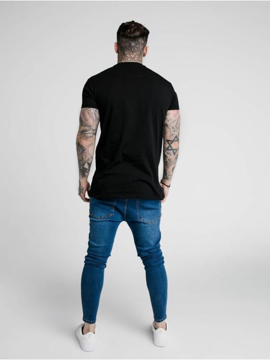 Sik Silk T-skjorter Embossed Fitted Box svart
