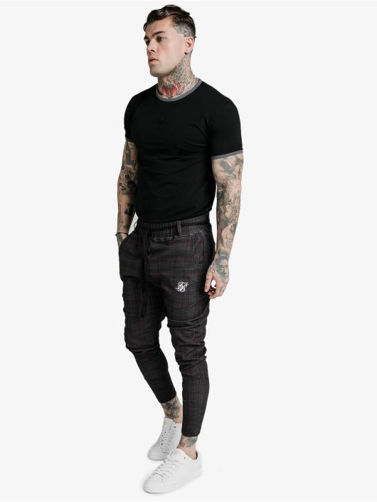 Sik Silk T-skjorter S/S Ringer Gym svart